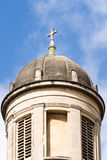 Cross On The Georgian Dome Against Blue Sky. Vertical photography Royalty Free Stock Photo