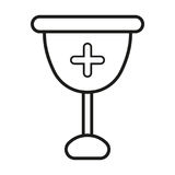 Cross glass icon Royalty Free Stock Photography