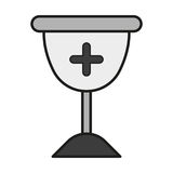 Cross glass icon Stock Images