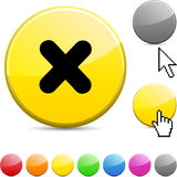 Cross glossy button. Cross glossy vibrant round icon royalty free illustration