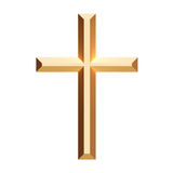 Cross gold Royalty Free Stock Photos