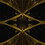 Cross Gold Fractal Concept With Black Shadow Royalty Free Stock Image