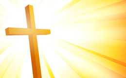 Cross on sunburst background Stock Image