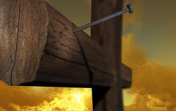 The cross of Golgatha. The place of hope Royalty Free Stock Photography