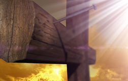 The cross of Golgatha Stock Image
