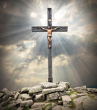 Cross on The Golgotha. Royalty Free Stock Photos