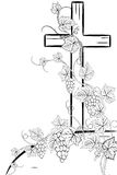 Cross and grape 2 Stock Image