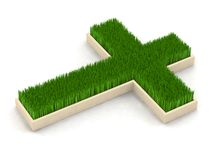 Cross grass Royalty Free Stock Image