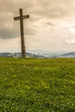 Cross. And grass in poland Stock Images