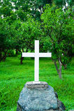 Cross at the grave Royalty Free Stock Images