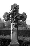Cross on a grave Royalty Free Stock Image