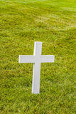 Cross on a grave at Arlington National Cemeterey Royalty Free Stock Images