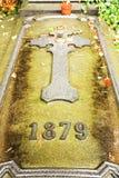 Cross on grave Stock Photos