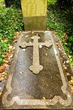 Cross on grave Royalty Free Stock Images