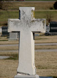 Cross Gravestone. A cemetery gravestone in the shape of a Christian cross Royalty Free Stock Images