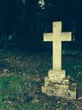 Cross gravestone Stock Photo