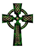 Cross from a green marble Royalty Free Stock Image