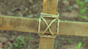 Cross In The Ground. Wooden Cross In The Ground stock video
