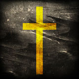 Cross on grunge background Royalty Free Stock Photos