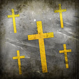 Cross on grunge background Royalty Free Stock Photo