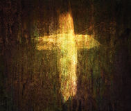 Cross on grunge background Royalty Free Stock Image