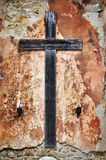 Cross on a grunge wall Royalty Free Stock Photo