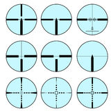 Cross hair and target set. Vector  illustration Stock Photos