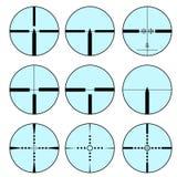Cross hair and target set. Vector illustration.  Stock Photos