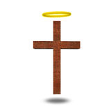 Cross with halo Royalty Free Stock Image