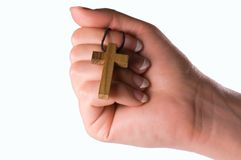 Cross in hand Royalty Free Stock Photos
