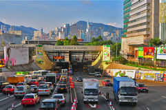 Cross harbor tunnel, hong kong Stock Images