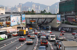 Cross-harbour tunnel Royalty Free Stock Photo