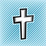 Cross Hatch Scratchboard Christian Cross Stock Images