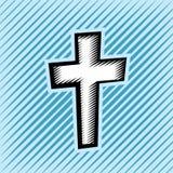 Cross Hatch Scratchboard Christian Cross Stock Images