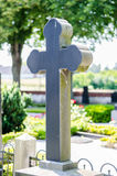 Cross headstone on grave Royalty Free Stock Image