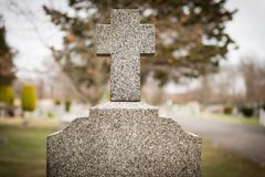 Cross Headstone Stock Images