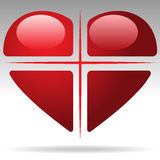 Cross heart Royalty Free Stock Photo