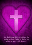 Cross and heart as symbol for Gods love Stock Image
