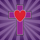 Cross and Heart Illustration Royalty Free Stock Photo