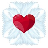 Cross, heart and wings Stock Images