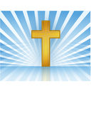 Cross In Heaven / Vector. Holy Cross with rays of light. Vector file available Stock Photo
