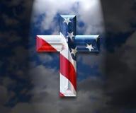 Cross in the Heavens Stock Photo