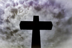 Cross and the heavens Royalty Free Stock Image