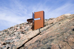 Cross. Helsinki. Finland. Temppeliaukio church Stock Image