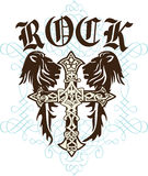 Cross heraldic crest lion Royalty Free Stock Photo