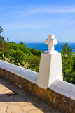 Cross high above the Med Royalty Free Stock Images