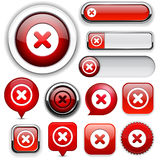 Cross high-detailed web button collection. Cross red design elements for website or app. Vector eps10 stock illustration