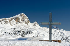 Cross on high mountain Royalty Free Stock Photography