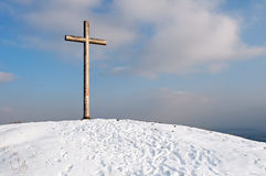 Cross on Hill Stock Photos