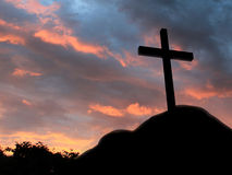 Cross on a hill Stock Image